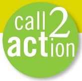 white text on a lime green circle reads: call 2 action