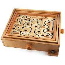 A stock photo of a wooden maze game