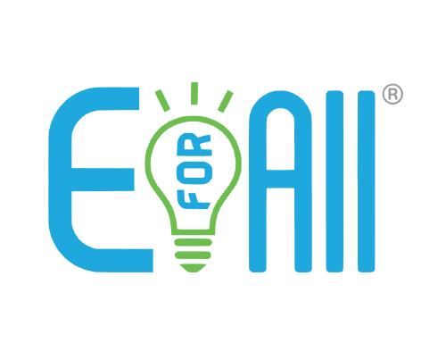The entrepreneurship for all logo features a blue