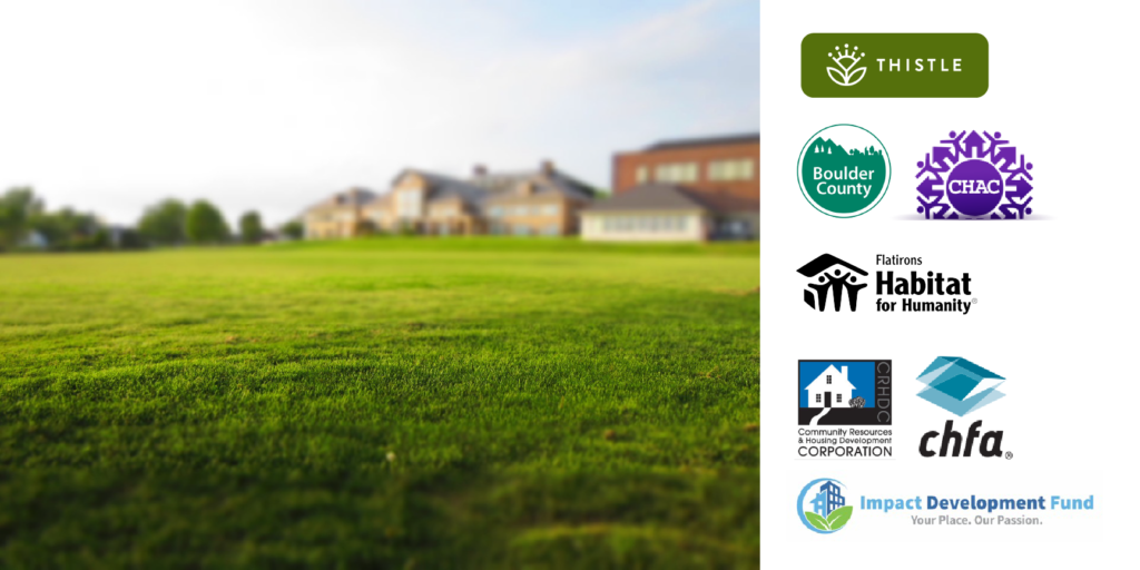 A photo of a green lawn with suburban houses in the distance is accompanied by 7 logos from the resources below.