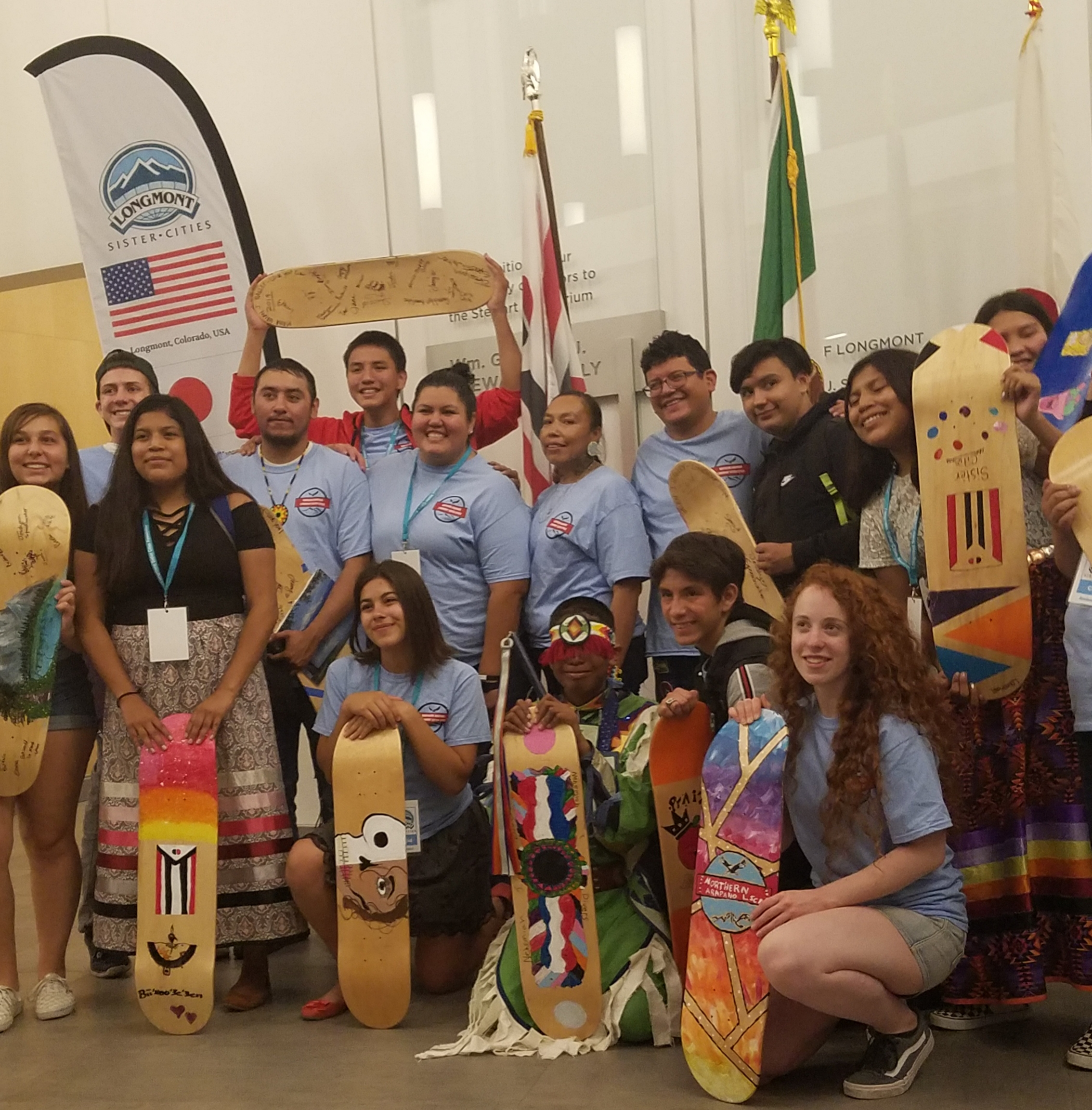 First-ever Arapaho Youth Exchange in Longmont!