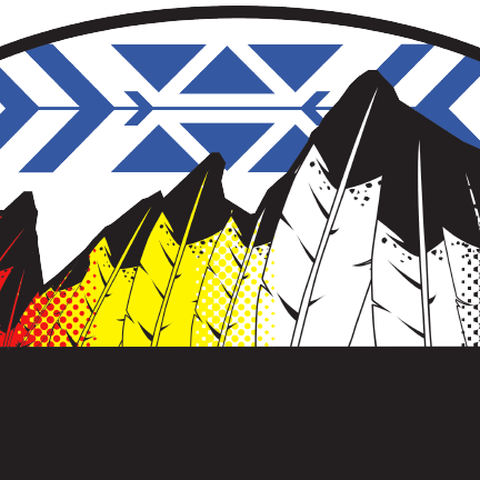 indigenous people's day imagery featuring feathers in the shape of flatirons