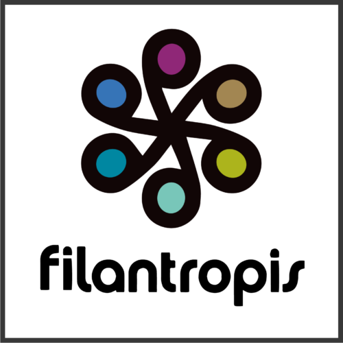 the filantropis logo: 6 ovals arranged in a circle and connected by spokes